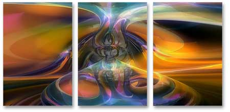 3-Piece Modern Art Canvas Print