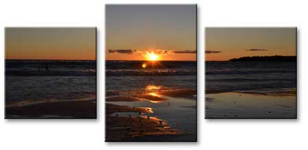 3 Panels Panoramic Landscape Canvas