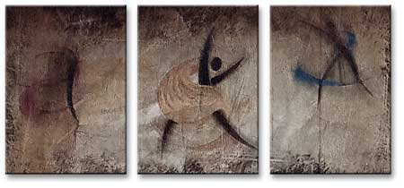 MP3011 set of 3 Panels Stretched Canvas Print Abstract Art