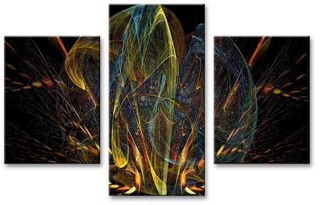 Art Set of 3 Canvases Abstraction