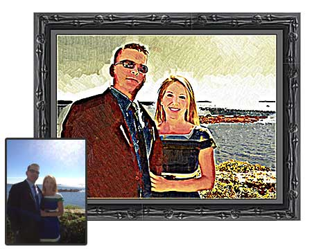 Birthday photo gift for husband - portrait painting