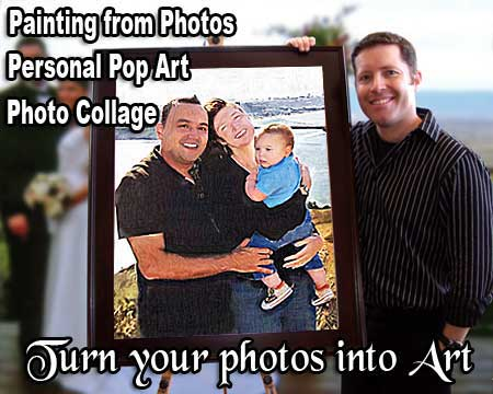Family Portrait Painting from photo to canvas