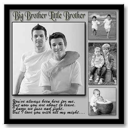 Creative 26th birthday 26x26 framed poster for big-little brothers