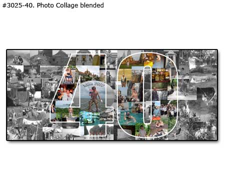 Personalized 40th Birthday Gift For 40 Year Old Dad Picture Collage Father Turning