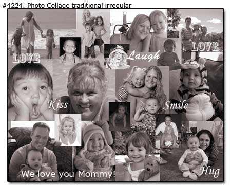 Happy 40th Birthday gifts for Mom, Black & White Collage