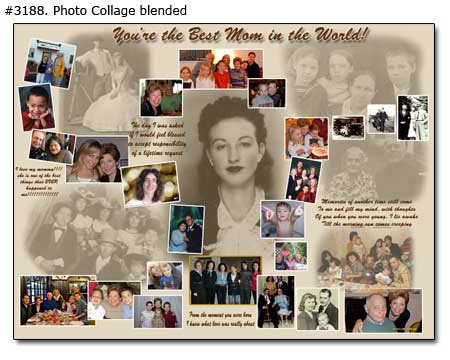 40-45th Moms Birthday photo collage