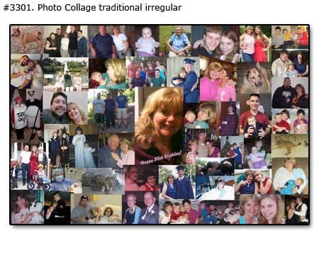 Gift for 55 year old moms 55th birthday, photo collage for mother turning 55
