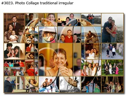 Mother 60th birthday Photomontage with transparent number 60