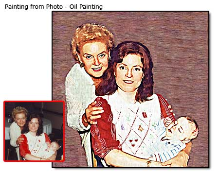 Baby, Mom and Grandma  Artwork from Photo