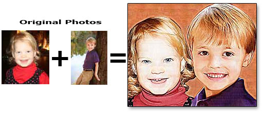 Combine two kids photos into one