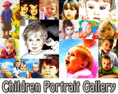 Custom Children Portrait Painting from Photo
