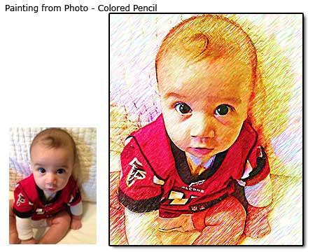 Colored Pencil Children Portrait