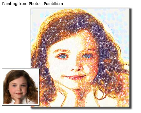 Portrait painting children from photo
