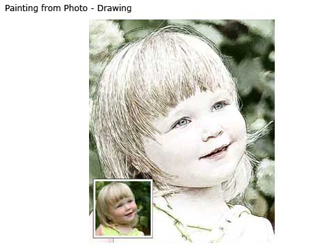 Portrait drawing from girl photo