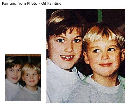 Brothers portrait painting portrait