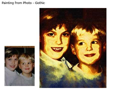 Twins portrait in Gothic