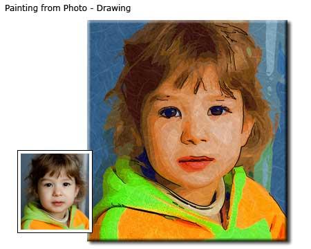 Boy portrait drawing