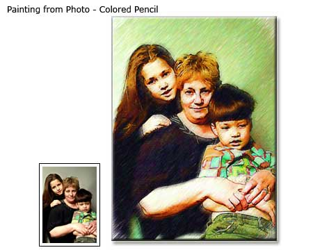 Custom Family Portrait drawing from photo