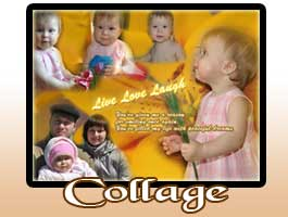 Creative family picture collage design
