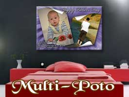 Multi picture poster print for grandpa