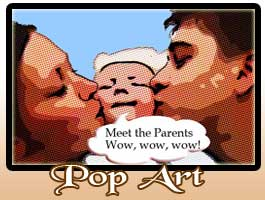 Happy family personalized pop art picture frame