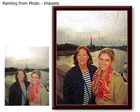 Impasto Portrait painting of Friends from photo to canvas