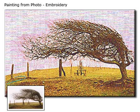 Custom Landscape Embroidery painting