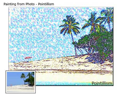 Custom Landscape Pointillism painting