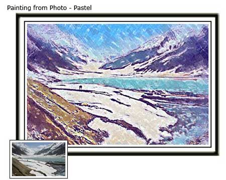 Custom Landscape Pastel painting from photo to canvas