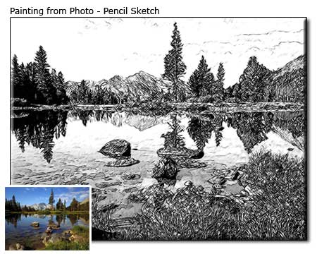 Custom Landscape Pencil Sketch