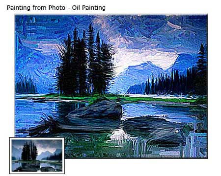 Landscape oil painting canvas print