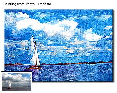 Landscape artwork from photo