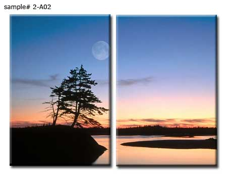 Two panels sunset canvas print