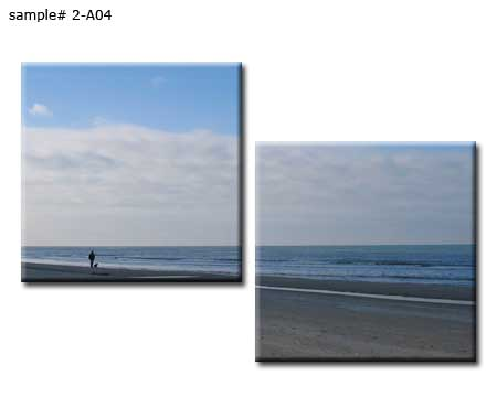 Sea beach 2 panel gallery wrap canvas