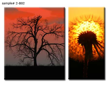 2 panel clusters from two landscape photos
