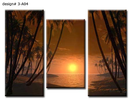 Split landscape picture into three panels
