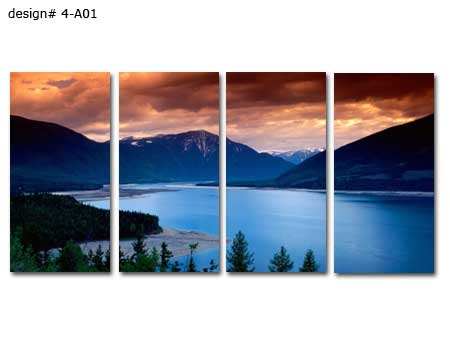 Huge Landscape 4-Panel Canvas Print