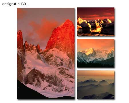 Four panel mountains set