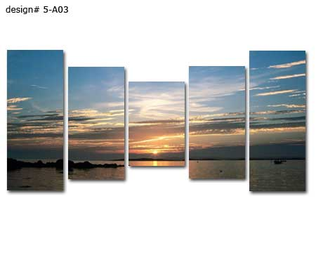 Modern multi panels landscape canvas artwork