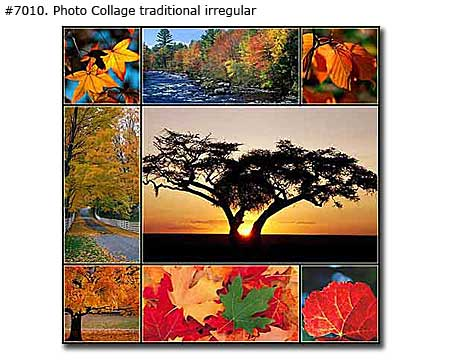 Landscape art collage
