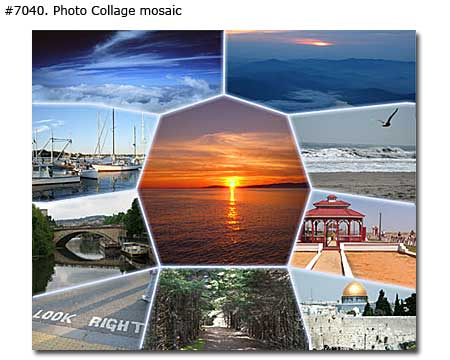 Vacation memory photo collage