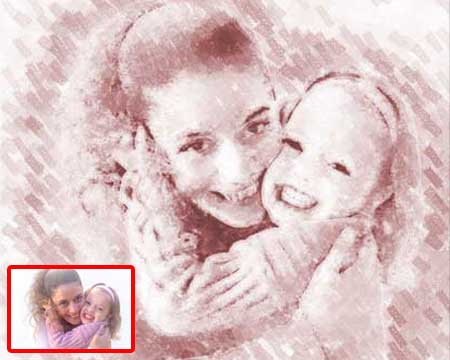 Mothers day portrait art gifts painting