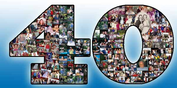 Humorous 40 picture collage for husband�s 40th birthday, 41, 42, 43, 44