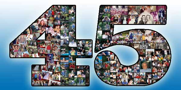 45th Birthday Gift Ideas For Husband Turning 45 Photo Collage Year Old