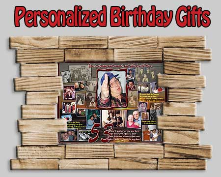 Perfect gift for husband on his 53rd birthday,  53 photo collage