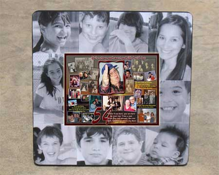 Personal 54th Birthday Gift for Husband, Hubby turning 54, Photo Collage