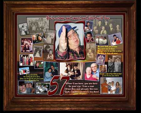 Personalized 57th Birthday Gift Ideas for Husband B-day Photo Collage
