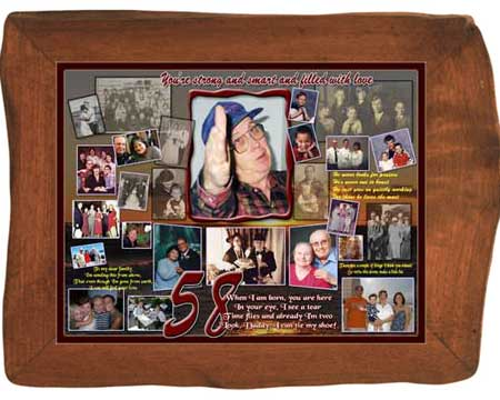 DIY 58th Birthday Gift for Husband B-day Photo Collage