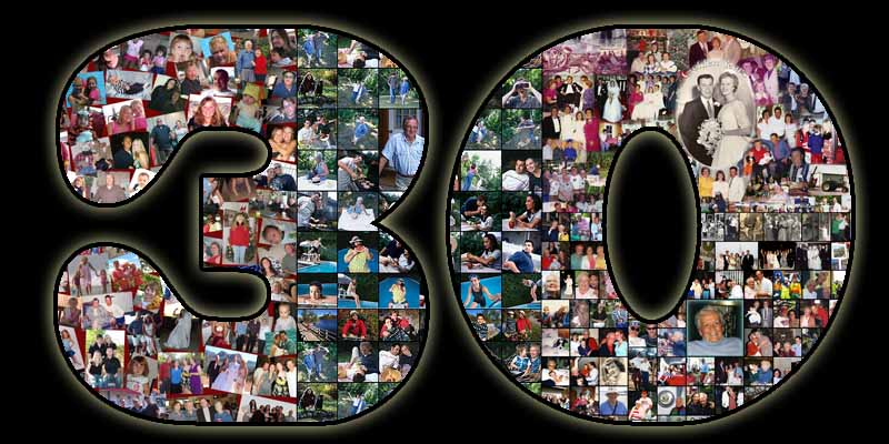 30th birthday collage for the 30 year old wife, good gift ideas for 31, 32, 33, 34, 35 husband
