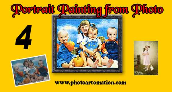Metal Print Custom children portrait in oil